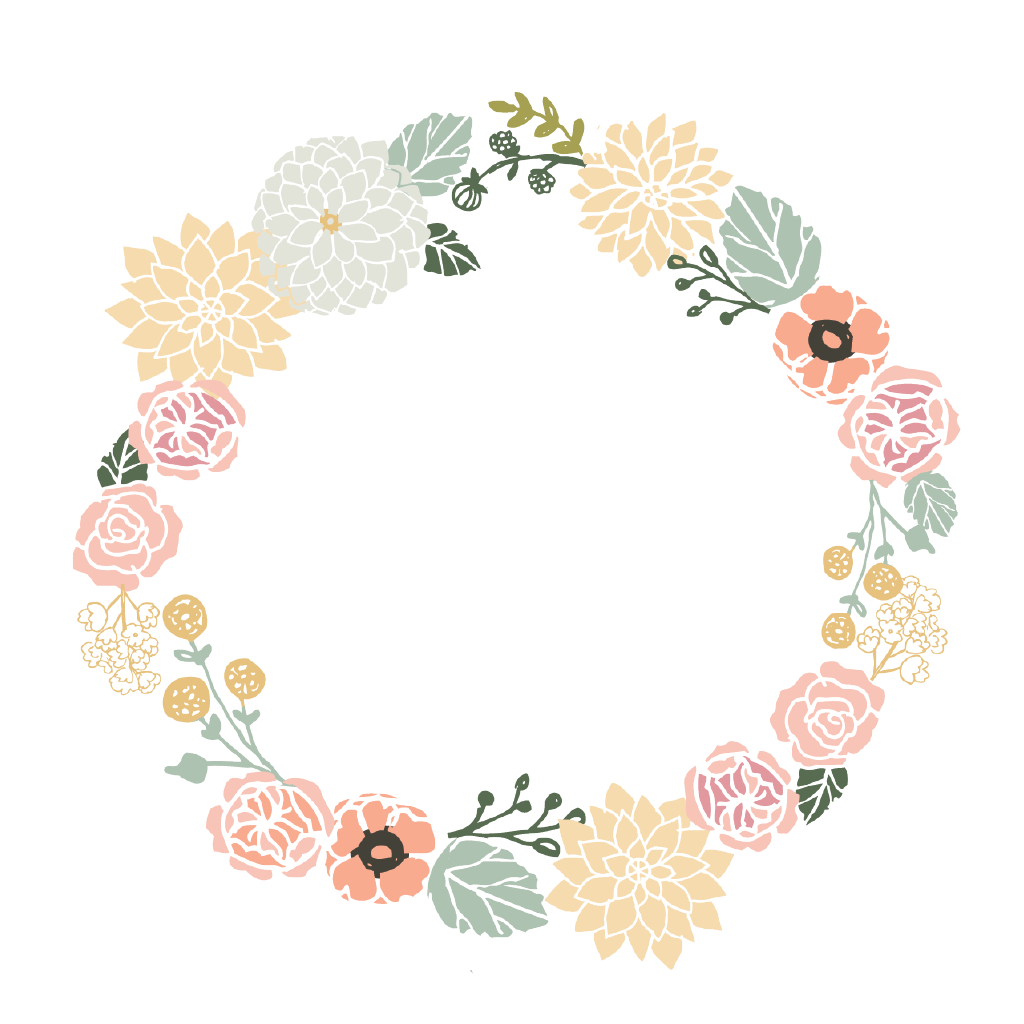 Forever young kids set. Circle clipart wreath