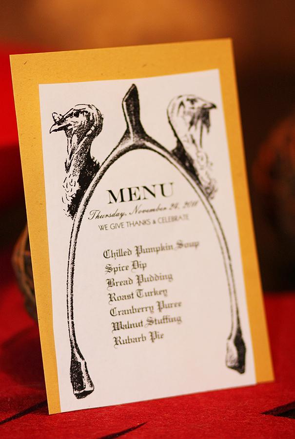 Cards clipart thanksgiving. Printable menu card vintage