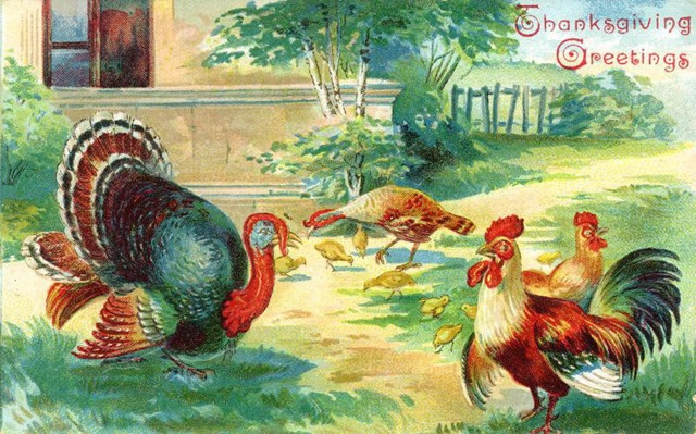 Cards clipart thanksgiving. Free vintage greeting holiday