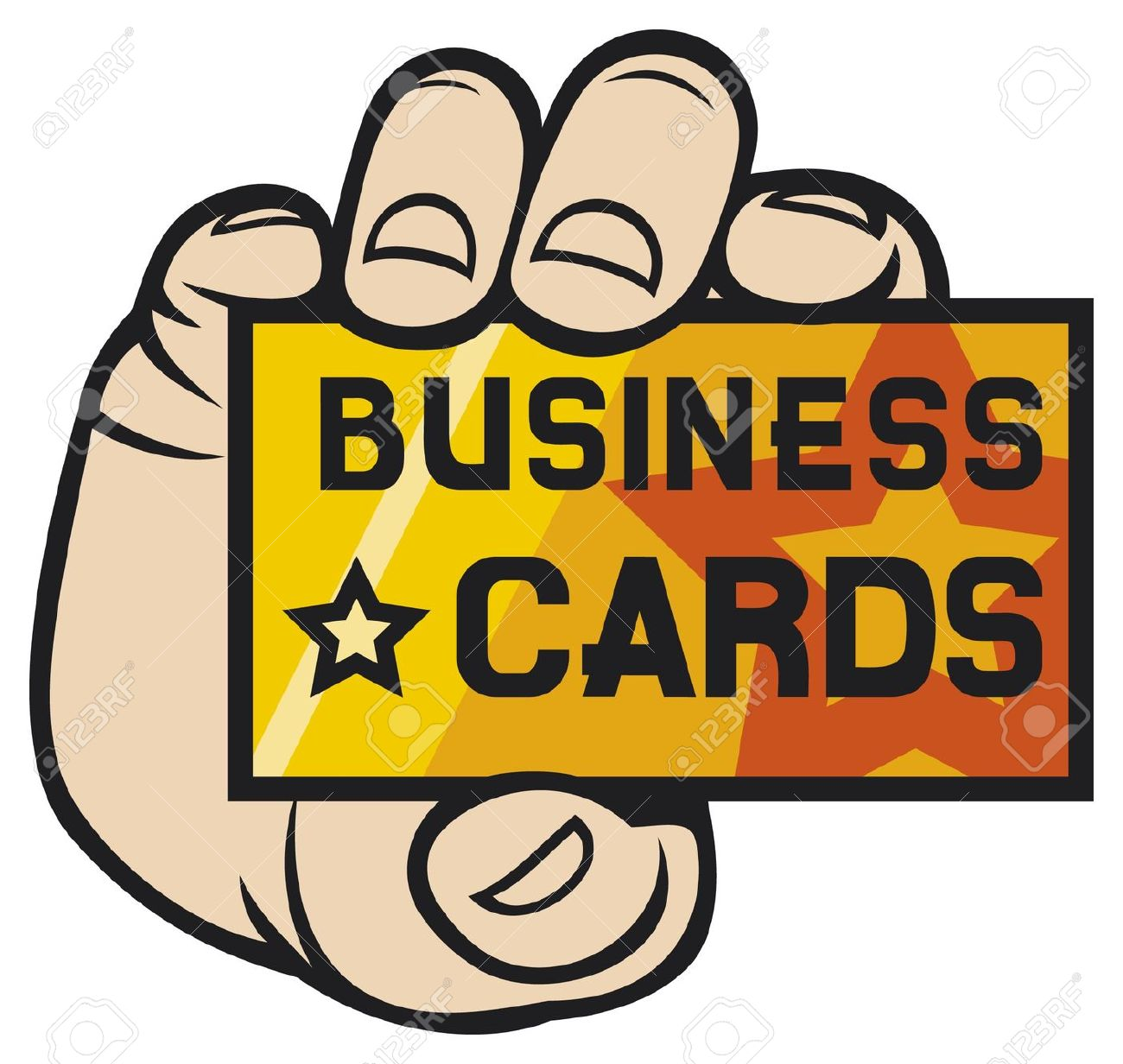 Vibrant free business card. Cards clipart vector