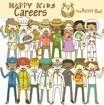 Happy kids clip art. Career clipart