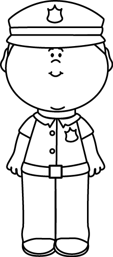Careers clipart black and white. Police officer clip art