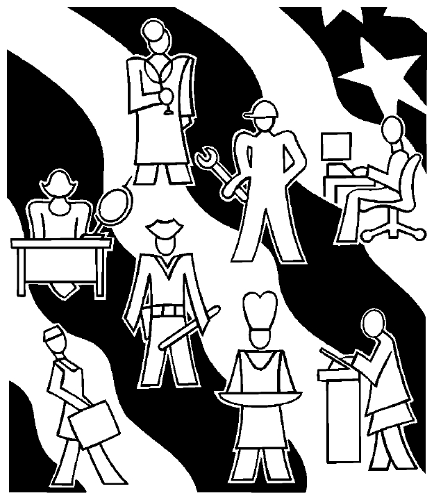 Careers clipart black and white.  collection of different