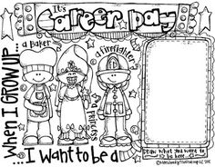 Career day printable click. Careers clipart black and white