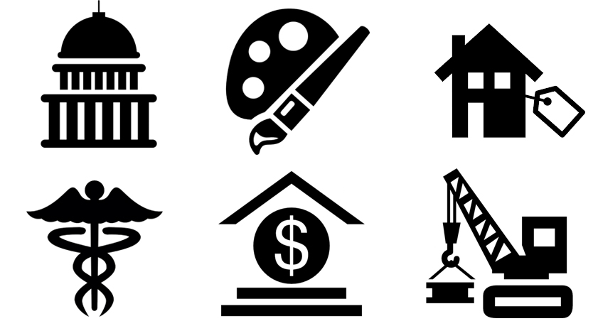 Career cilpart stylish design. Careers clipart black and white