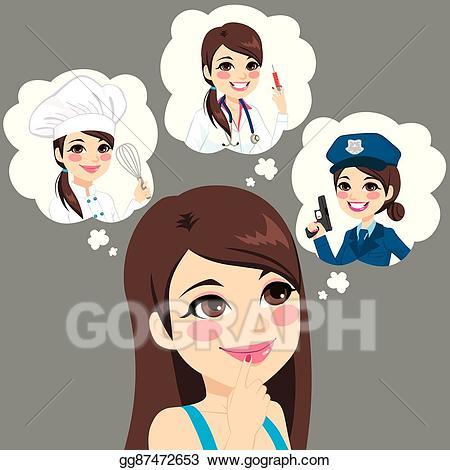 Career clipart career choice. Vector stock girl illustration