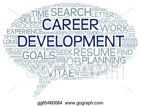 Career clipart career development. Stock illustration in word