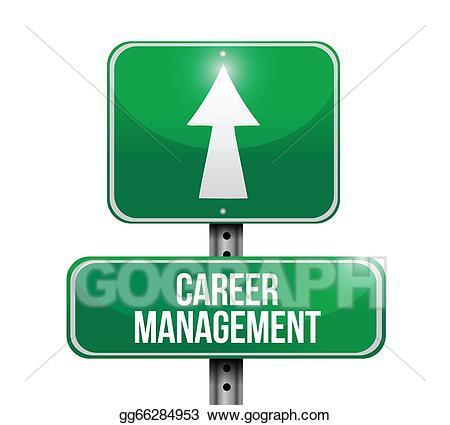 Career clipart career management. Vector illustration road sign