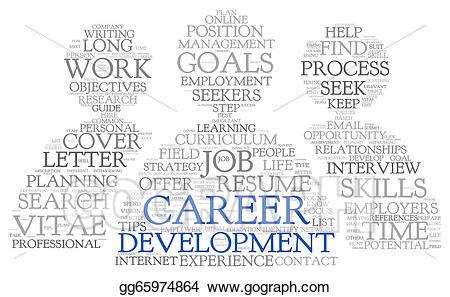 Stock illustration development in. Career clipart career management