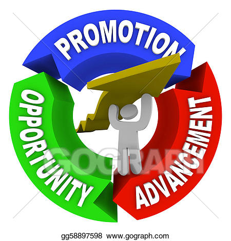 Stock illustration promotion advancement. Career clipart career opportunity