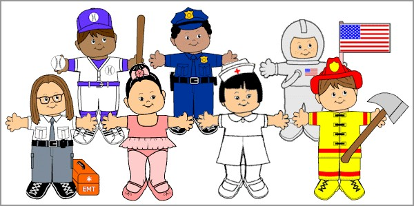 Paper doll friends makingfriendsmakingfriends. Careers clipart career day