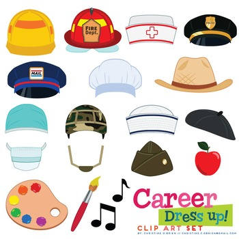 Jobs clipart hat. Career dress up clip