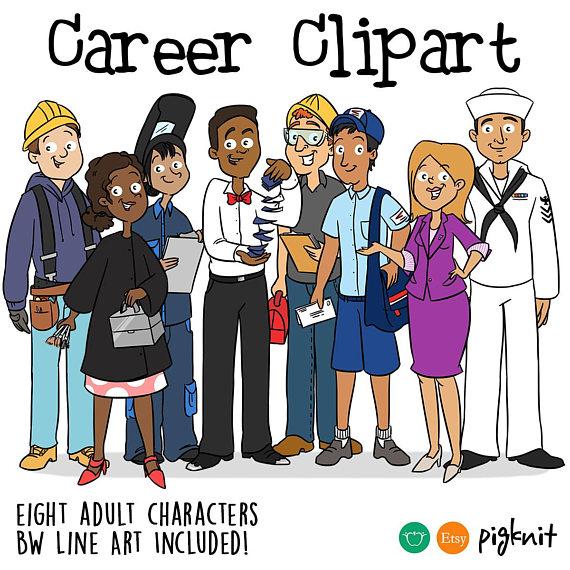 Career navy cosmetology realtor. Careers clipart cartoon