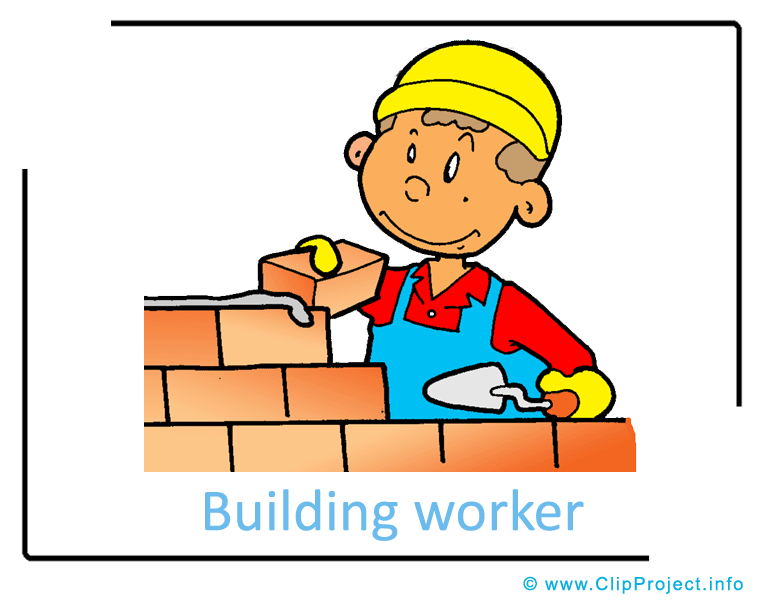 Career clipart cartoon. Building worker image images