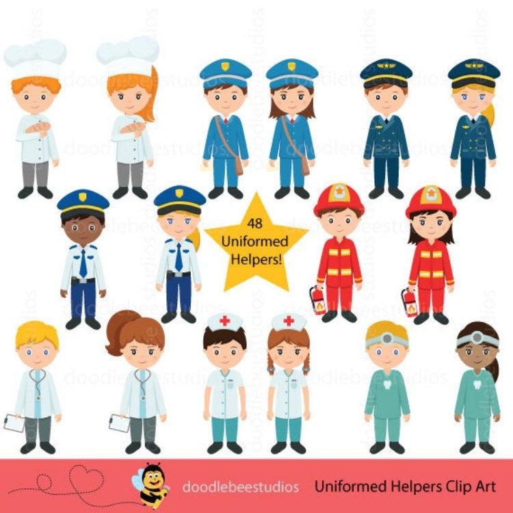Helpers clipartcareer day etsy. Career clipart community helper