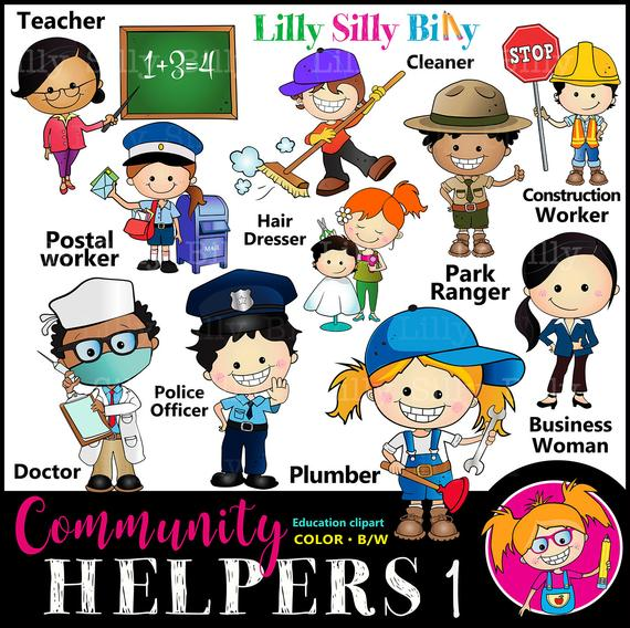 Helpers set for occupations. Careers clipart community helper