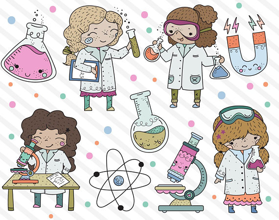 Careers clipart cute. Science girl stem girls