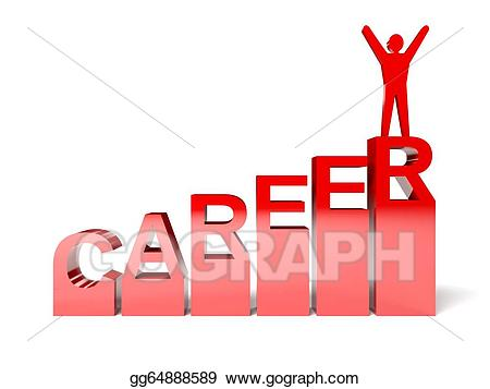 Careers clipart drawing. Stock illustration successful career