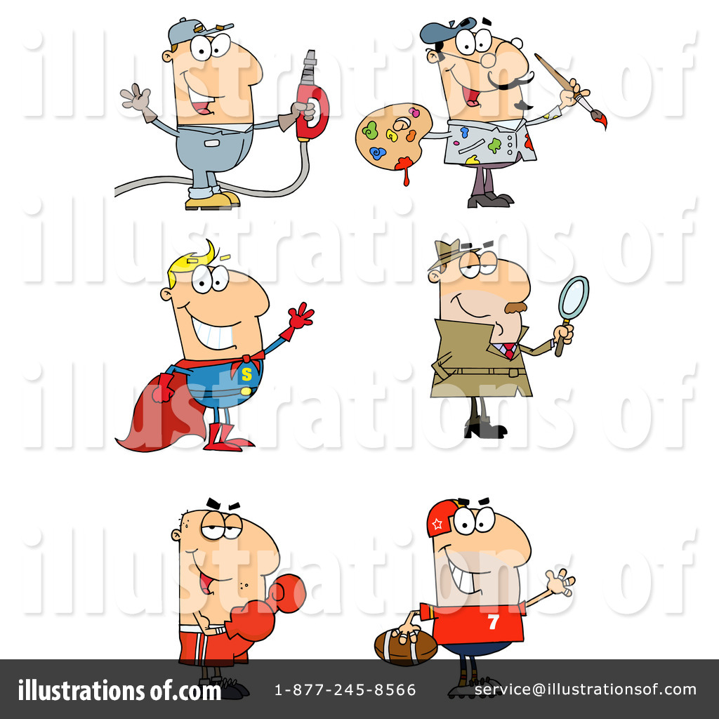 Career clipart illustration. By hit toon