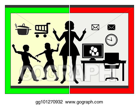 Stock compatibility of family. Career clipart illustration