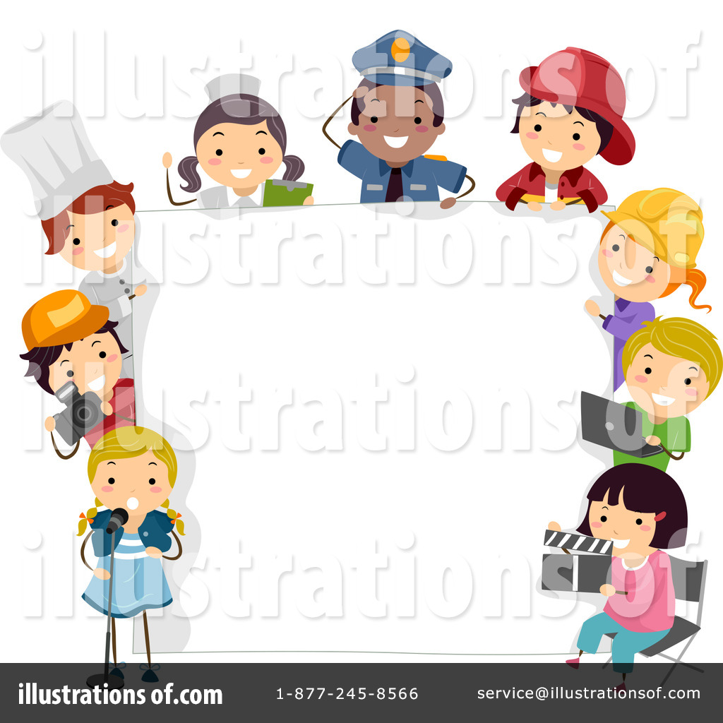 Careers clipart kid. Children illustration by bnp