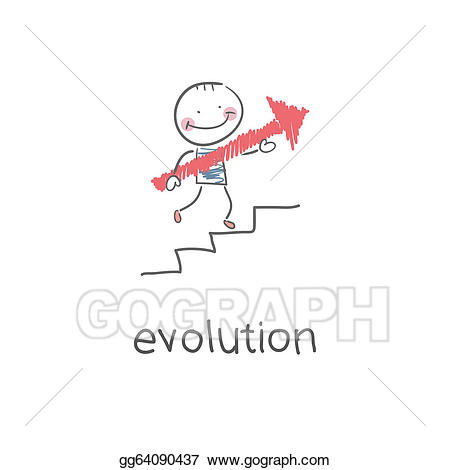 Career clipart illustration. Vector stock evolution