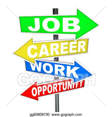 Careers clipart job. Stock illustration career work