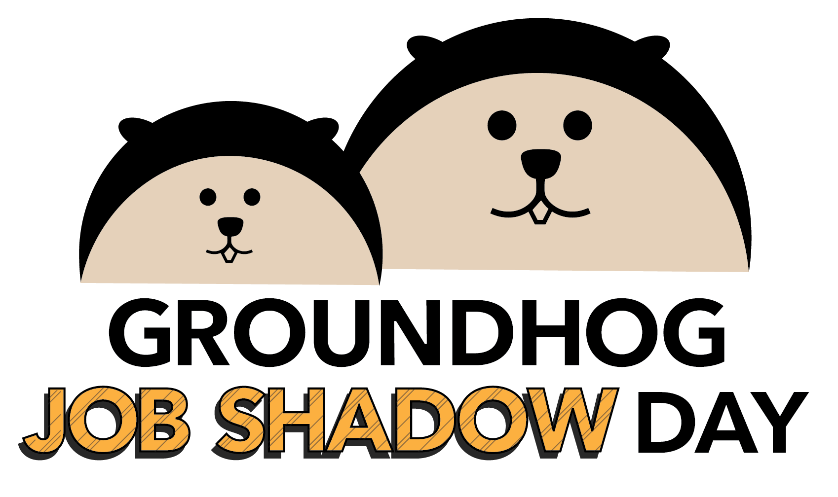 Job day career technical. Groundhog clipart shadow