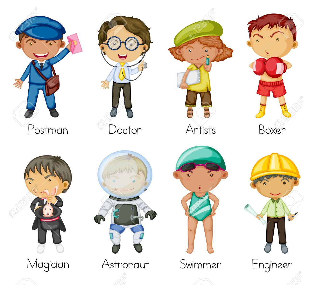 Career pictures for kids. Careers clipart kid