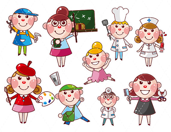 Careers clipart kid. Career clip art for