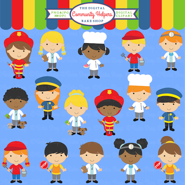 Community helpers graphics for. Career clipart painting