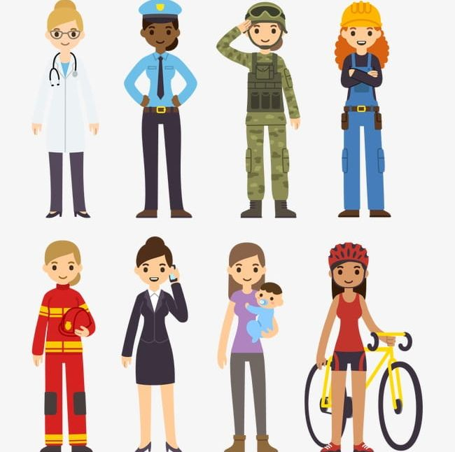 Women png adult backg. Careers clipart professional