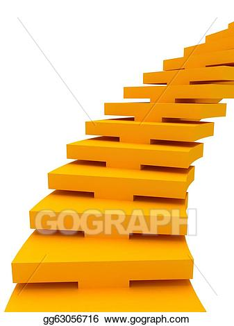 Career clipart stair. Stock illustration color stairs