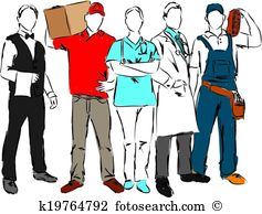 Career image group vector. Careers clipart