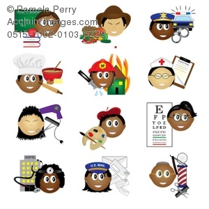 Careers clipart. Clip art illustration of