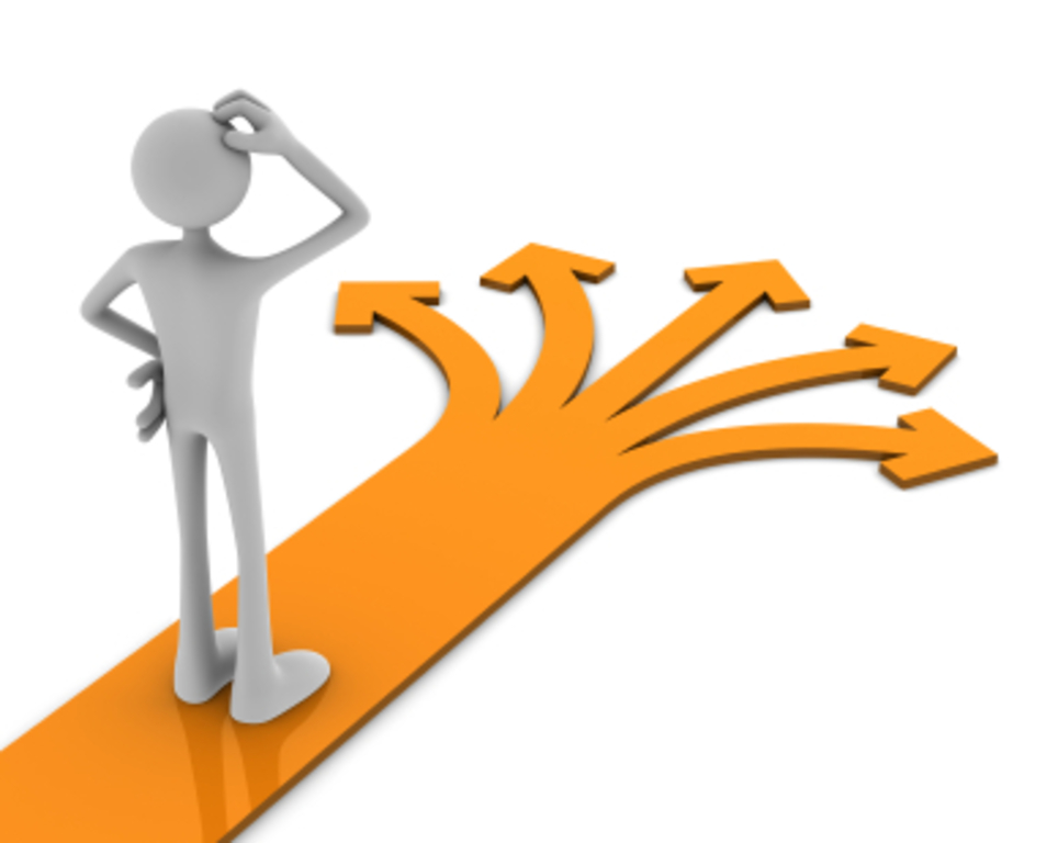 Choosing the right career. Careers clipart
