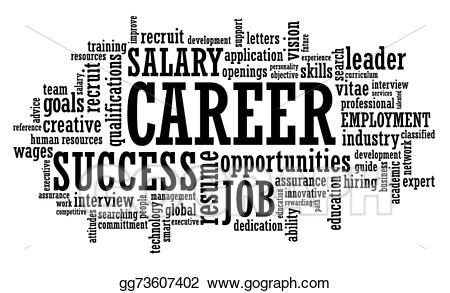 Vector stock job career. Careers clipart black and white