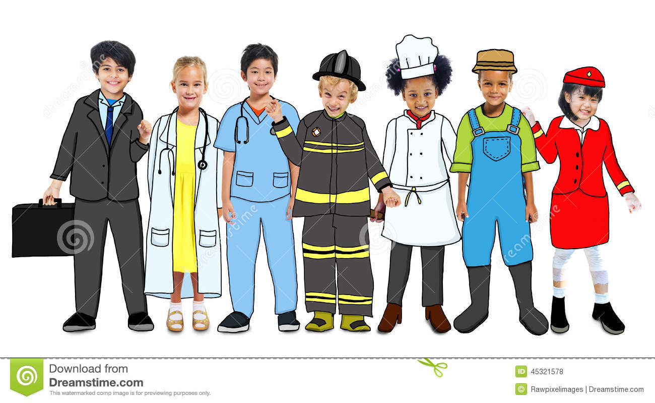 Career clipart different career. Careers group uniform person