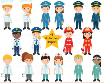 Community helpers job clip. Careers clipart career day