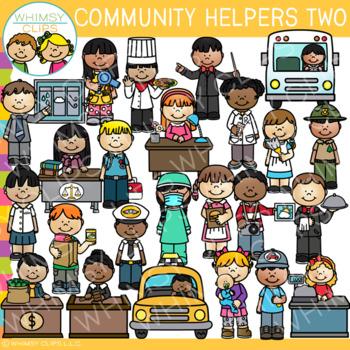 Careers clipart community helper. Helpers clip art set