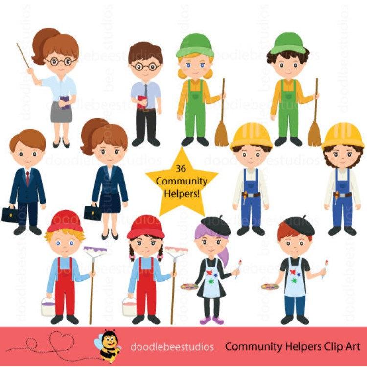 Helpers clipartcareer day etsy. Careers clipart community helper