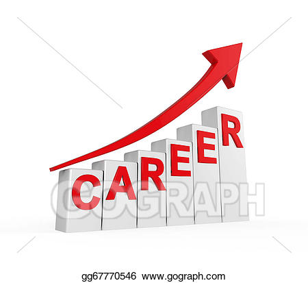 Careers clipart drawing. Career ladder isolated gg