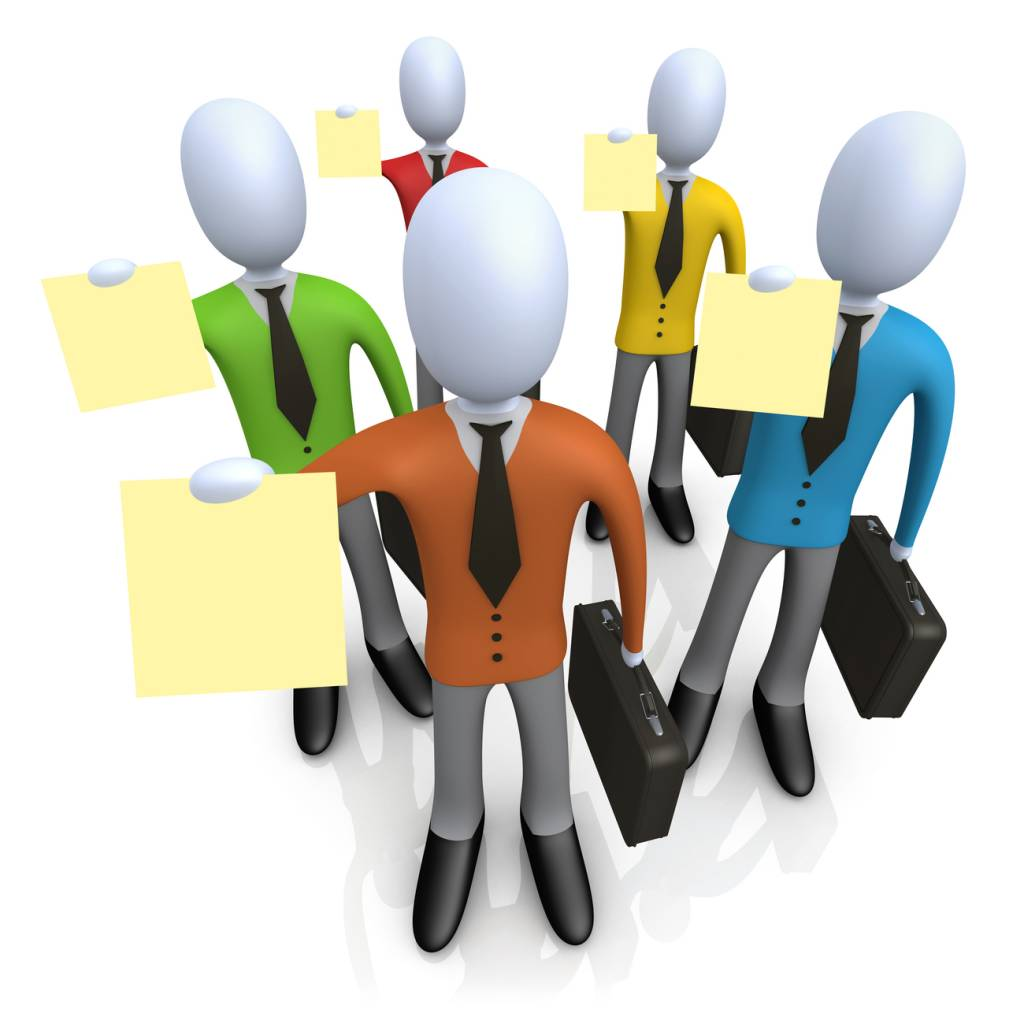 Careers clipart illustration. Of a group businessmen