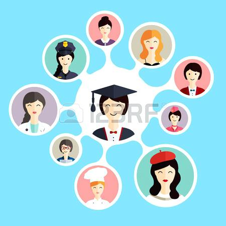 Career choices clipartuse graduation. Careers clipart illustration