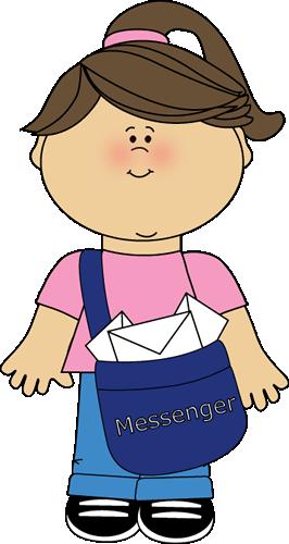 Classroom messenger job clip. Careers clipart kid