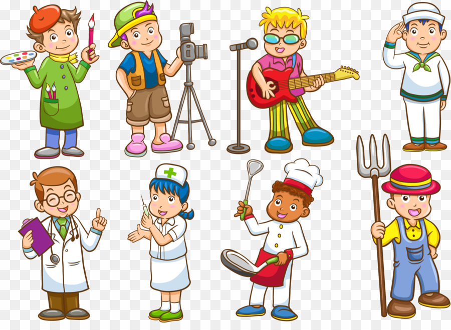 Different types of occupation. Careers clipart kid
