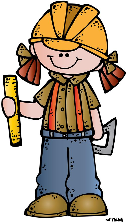 Child clipart construction.  best melonheadz people