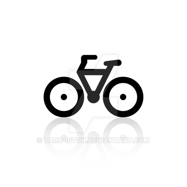 Icon bicycle by taro. Careers clipart minimalist