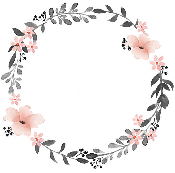 Gray pink watercolor wreath. Careers clipart minimalist