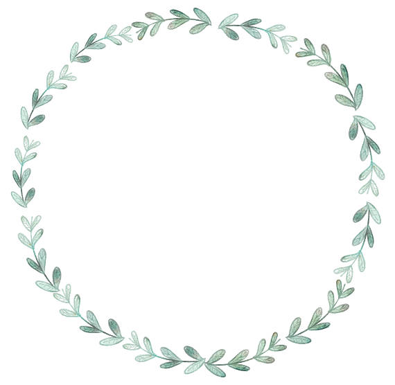 Careers clipart minimalist. Blue watercolor wreath
